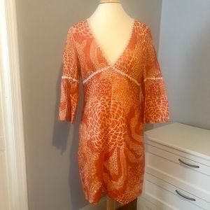 Trina Turk Bell Sleeve Dress